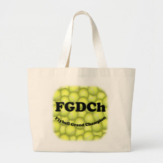 FGDCh, Flyball Grand Champion Jumbo Tote Canvas Bags
