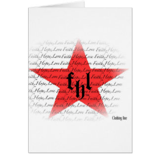 FHL (Faith, Hope & Love) All Star Logo Greeting Card