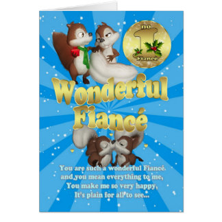 Fiance Christmas Card - Love Squirrels