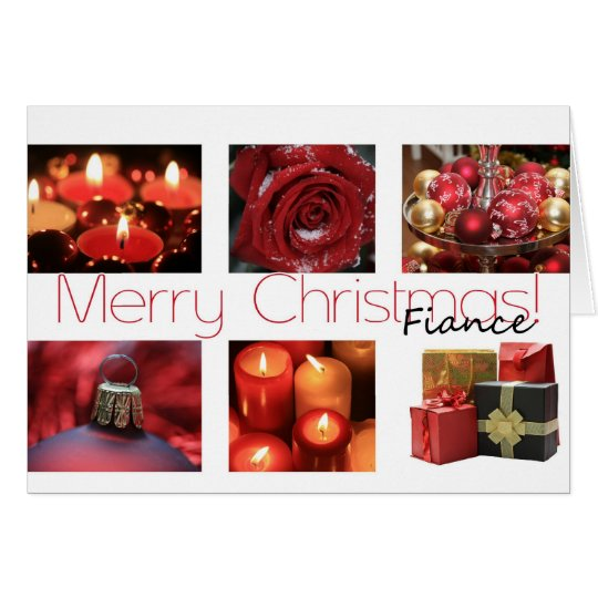 Fiance Christmas red, black & white Winter collage