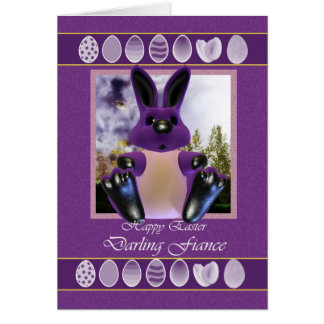 Fiance Easter Card, with Easter Bunny Greeting Card