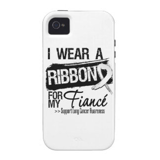 Fiance Lung Cancer Ribbon iPhone 4 Case