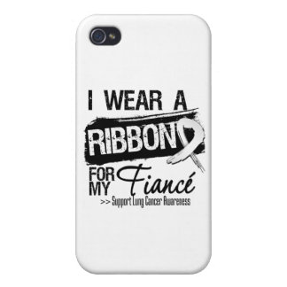 Fiance Lung Cancer Ribbon iPhone 4 Cover