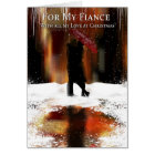 Fiance Stylish Christmas Holiday Card With Couple