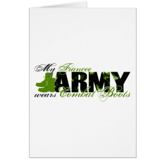 Fiancee Combat Boots - ARMY Greeting Card