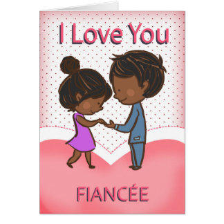 Fiancee, Cute Loving African American Couple, Card