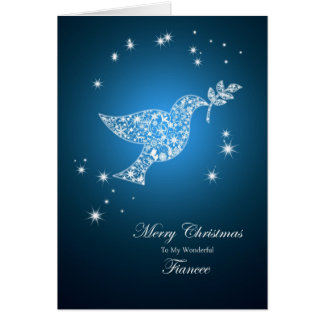 Fiancee, Dove of peace Christmas card