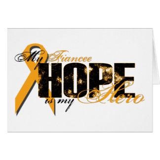 Fiancee My Hero - Leukemia Hope Greeting Card