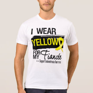 Fiancee Yellow Ribbon Endometriosis Tee Shirts