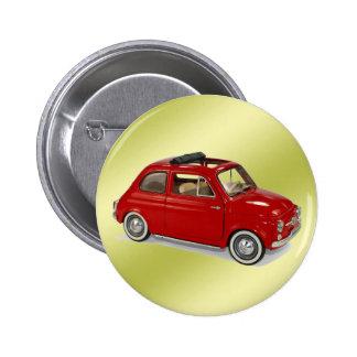 fiat500 6 cm round badge