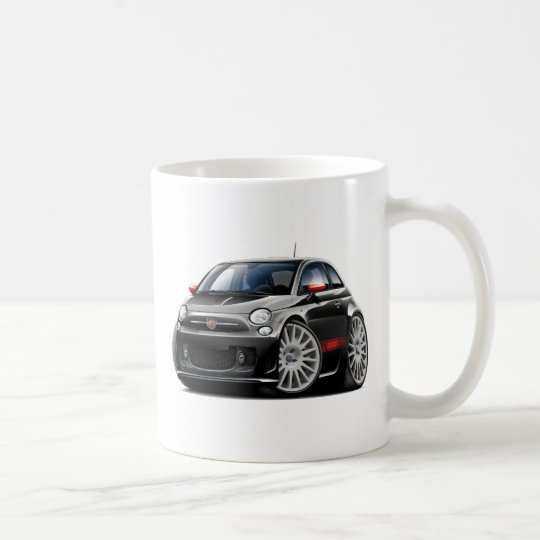 Fiat 500 Abarth Black Car Coffee Mug