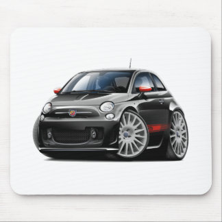 Fiat 500 Abarth Black Car Mouse Mat