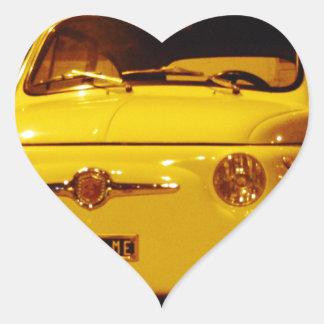 Fiat 500 Abarth. Heart Sticker