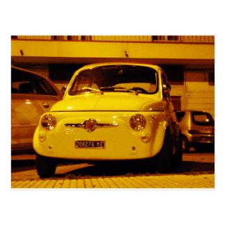 Fiat 500 Abarth. Postcard