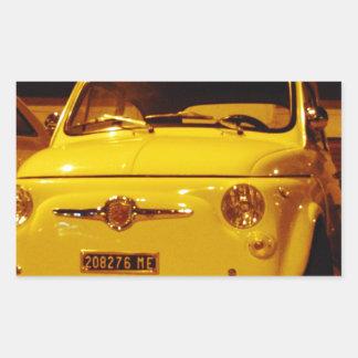 Fiat 500 Abarth. Rectangular Sticker