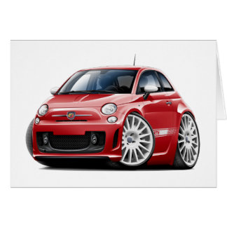 Fiat 500 Abarth Red Car Card