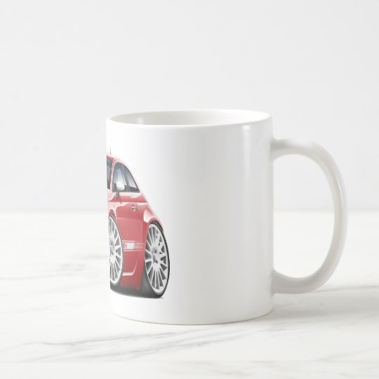 Fiat 500 Abarth Red Car Coffee Mug