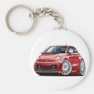 Fiat 500 Abarth Red Car Basic Round Button Key Ring