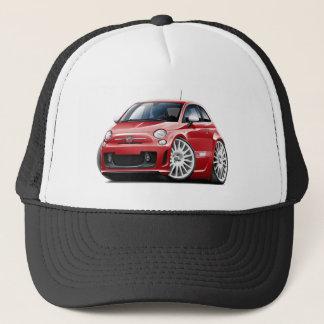 Fiat 500 Abarth Red Car Trucker Hat