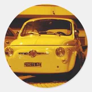 Fiat 500 Abarth. Round Sticker