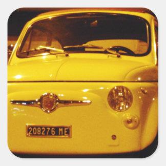 Fiat 500 Abarth. Square Sticker