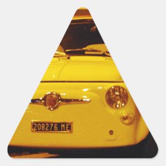Fiat 500 Abarth. Triangle Sticker