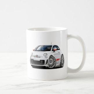 Fiat 500 Abarth White Car Coffee Mug
