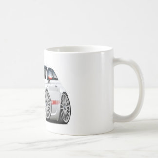 Fiat 500 Abarth White Car Coffee Mug