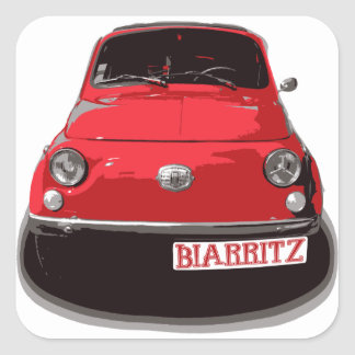 Fiat 500 Biarritz Sticker