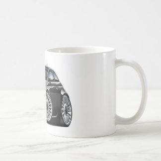 Fiat 500 Black Car Basic White Mug