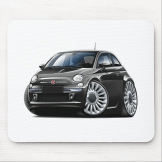 Fiat 500 Black Car Mouse Mat
