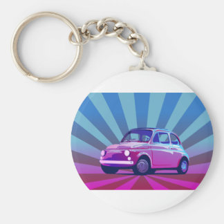Fiat 500 Bunt Key Ring