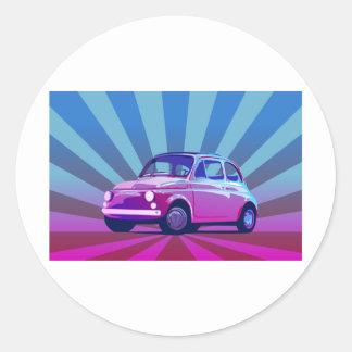 Fiat 500 Bunt Round Sticker
