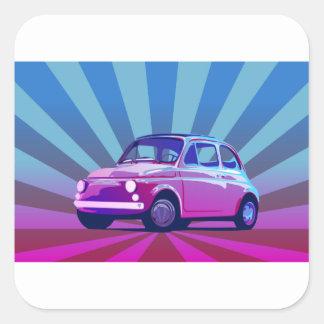 Fiat 500 Bunt Square Sticker