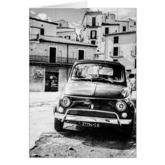 Fiat 500, cinquecento in Italy, classic car gift Card