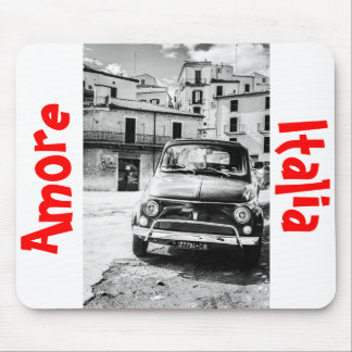 Fiat 500, cinquecento in Italy, classic car gift Mouse Pad