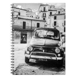 Fiat 500, cinquecento in Italy, classic car gift Notebook