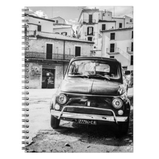 Fiat 500, cinquecento in Italy, classic car gift Spiral Notebook