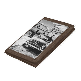 Fiat 500, cinquecento in Italy, classic car gift Tri-fold Wallet