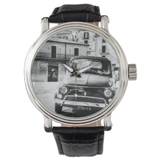 Fiat 500, cinquecento in Italy, classic car gift Watch