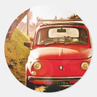 Fiat 500, Cinquecento in Italy Classic Round Sticker