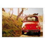Fiat 500, Cinquecento in Italy Greeting Cards