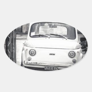 Fiat 500, Cinquecento in Italy Oval Sticker