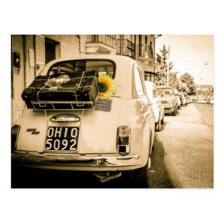 Fiat 500 Cinquecento in Italy Postcards