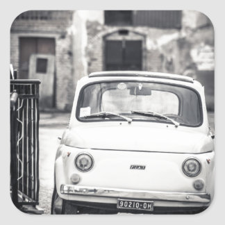 Fiat 500, Cinquecento in Italy Square Sticker