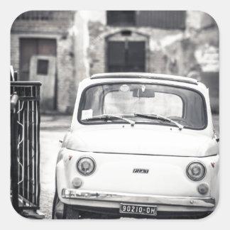 Fiat 500, Cinquecento in Italy Square Sticker