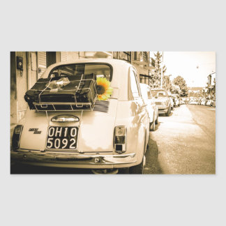 Fiat 500, Cinquecento in Italy, vintage car Rectangular Sticker