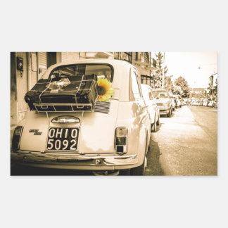 Fiat 500 Cinquecento in Italy vintage car Stickers