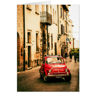 Fiat 500 Cinquecento in Umbria, Italy Card
