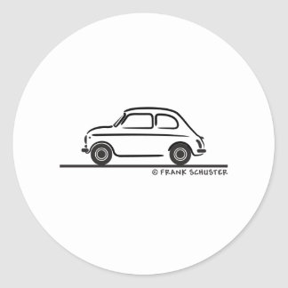 Fiat 500 Cinquecento Round Sticker